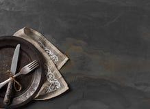 Vaisselle de cuisine de couverts d'en haut Photo libre de droits
