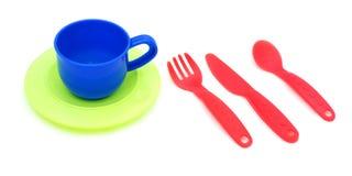 Vaisselle de cuisine en plastique Photographie stock libre de droits