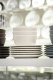 Vaisselle de cuisine - groupe de plat et de bolw Photos libres de droits