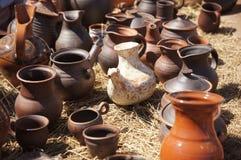 Vaisselle de cuisine romaine antique Photos libres de droits