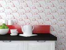 Vaisselle de cuisine sur le plan de travail Photographie stock