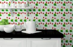 Vaisselle de cuisine sur le plan de travail Photos stock