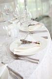Vaisselle de mariage Image stock