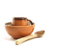 Vaisselle de poterie de terre Photo stock