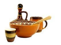 Vaisselle de poterie de terre Images stock