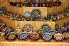 Vaisselle fabriquée à la main en céramique Photographie stock