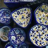 Vaisselle faite main du Moyen-Orient image libre de droits