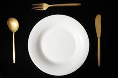 Vaisselle plate argentée de vintage Images stock