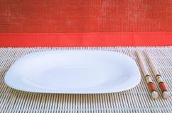Vaisselle pour des sushi Images libres de droits