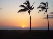 Vaitogi solnedgång royaltyfri bild