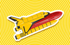 Vaivém espacial dourado amarelo Fotos de Stock Royalty Free