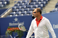 Vajda coach of Djokovic US Open 2013 Stock Photography