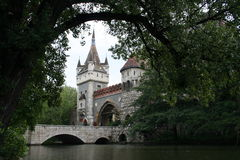 Vajdahunjad Castle, Gates and Bridge. Bridge and Gates of the Vajdahunjad Castle, Hungary, Budapest Royalty Free Stock Photography