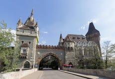 Vajdahunya Schloss, Budapest, Ungarn Lizenzfreies Stockbild