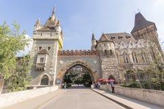 Vajdahunya Schloss, Budapest, Ungarn Lizenzfreie Stockfotos