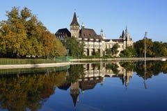 Vajdahunyad城堡在布达佩斯,匈牙利, 2015年10月22日 库存照片