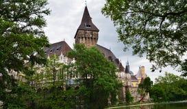 Vajdahunyad Castle, στο πάρκο πόλεων της Βουδαπέστης, Ουγγαρία Στοκ εικόνα με δικαίωμα ελεύθερης χρήσης