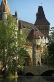 Vajdahunyad Castle. In the Varosliget district of Budapest in Hungary stock photos