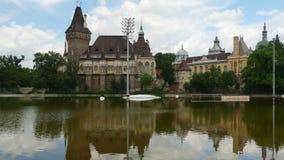Vajdahunyad castle, budapest, hungary, timelapse, 4k stock footage