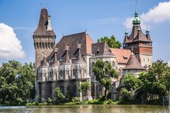 The Vajdahunyad castle, Budapest main city park Stock Photos
