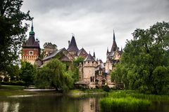 Vajdahunyad castle in a Budapest royalty free stock photography