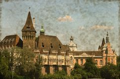 Vajdahunyad castle in Budapest - Vintage Royalty Free Stock Photos