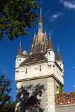Vajdahunyad Castle is a castle in the City Park of Budapest, Hun Royalty Free Stock Image