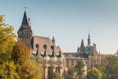 Vajdahunyad Castle in city park Budapest, Hungary Stock Photo