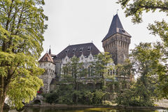 Vajdahunyad Castle in the City Park of Budapest, Hungary. Stock Image
