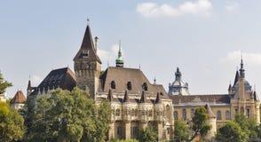 Vajdahunyad Castle in the City Park of Budapest, Hungary. Stock Photo