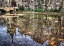 Vajdahunyad Castle, City Park, Budapest, Hungary - reflection in the lake Stock Photos