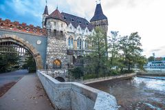 Vajdahunyad castle entrance Royalty Free Stock Photos