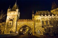 Vajdahunyad Castle at night in Budapest Royalty Free Stock Photo