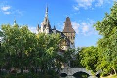 Vajdahunyad castle in Varosliget park. Budapest. Stock Images