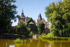 Vajdahunyad Castle view on a sunny day, Budapest Stock Photography