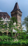 Vajdahunyad fortress gothic tower in Budapest Stock Image