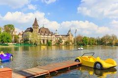 Vajdahunyad Schloss in Budapest Lizenzfreie Stockbilder