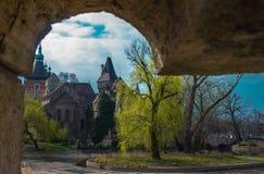 Vajdahunyad-Schloss-Rahmen Lizenzfreie Stockbilder