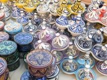 Vajilla coloreado de Marruecos Imagen de archivo