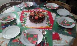 Vajilla de la Navidad Foto de archivo libre de regalías