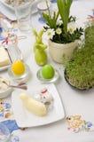 Vajilla de Pascua Foto de archivo libre de regalías