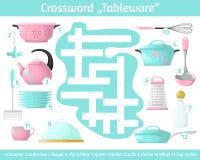 Vajilla del crucigrama Crucigrama multicolor Libre Illustration