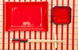 Vajilla del sushi Imagen de archivo libre de regalías