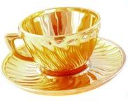 Vajilla para el té, taza, platillo Foto de archivo libre de regalías