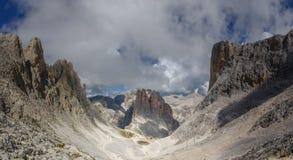 Vajolet-Türme in den Dolomit Stockfotos