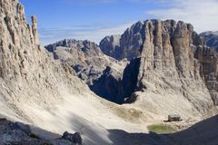 Vajolet towers - dolomite. Vajolet towers and bower- dolomite Stock Photos