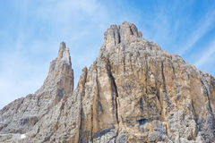 Vajolet towers in Dolomites Royalty Free Stock Photography