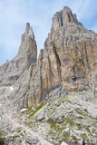 Vajolet towers in Dolomites Royalty Free Stock Photo