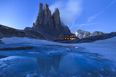 Vajolet Towers in Dolomites. Val di Fassa, Italy Royalty Free Stock Images