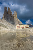Vajolet Towers. The Vajolet Towers, in the Rosengarten Group of Dolomites Royalty Free Stock Photos